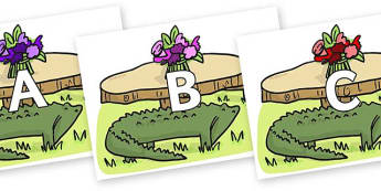 A-Z Alphabet on Trick Four to Support Teaching on The Enormous Crocodile - A-Z, A4, display, Alphabet frieze, Display letters, Letter posters, A-Z letters, Alphabet flashcards