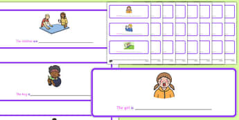 Fill in the Verbs Cards - fill, verbs, cards, fill in, sen, special, educational, needs
