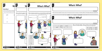 French Naming People Activity Sheet - french, languages, names, introductions, worksheet