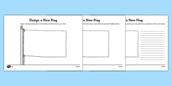 Physical and Human Features Differentiated Flag Design Activity - Physical features, human features, flag, country, design, St Lucia