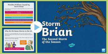 Storm Brian Information  PowerPoint - hurricanes, weather, UK, events,