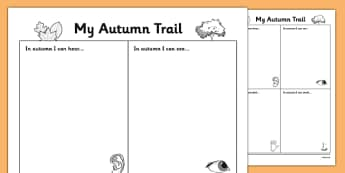 Autumn Observation Worksheet - roi, irish, republic of ireland, autumn, observation