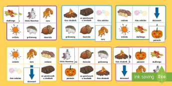 Autumn Bingo Gaeilge - fómhar, séasúr, season, cluiche, games, aimsir, weather,Irish