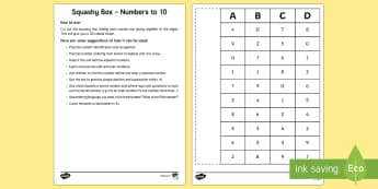 Squashy Boxes Numbers to 10 Craft - squashy box, squashy boxes, squashy, box, boxes, numbers, number, numbers to 10, craft, activity, maths, mathematics
