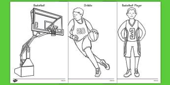 Basketball Coloring Pages - usa, nba, basketball, national basketball association, coloring pages, color, coloring