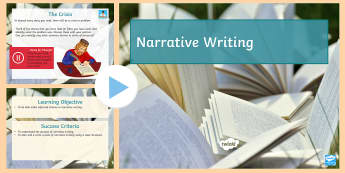 Narrative Writing Cover Lesson PowerPoint  - Secondary - English - Cover Lessons KS3, narrative writing, structure, story structure, story openin