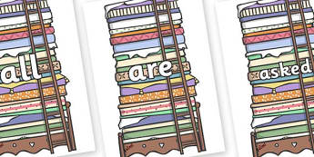 Tricky Words on Beds - Tricky words, DfES Letters and Sounds, Letters and sounds, display, words