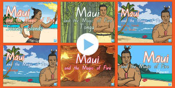 Maui Fire Myths From Around The Pacific Resource Pack - Maui, fire, myths, legends, story telling, resource pack, south pacific, The Pacific, powerpoints, N