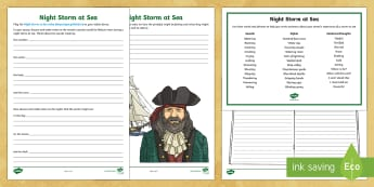 Night Storm at Sea Activity Pack - pirates, pirate ships, sound story, sound stories, what are sound stories, night storm, internationa