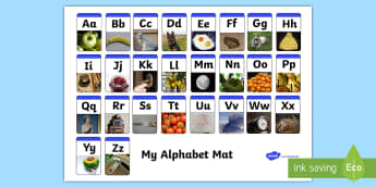 A-Z Alphabet Mat Upper and Lowercase-alphabet, alphabet mat, upper and lowercase, lowercase alphabet, A-Z, word mat, lowercase letters