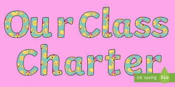 Our Class Charter Emoji Themed Display Lettering - Classroom, Management, Behaviour, KS2, rules, organise, council, bright