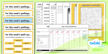 PlanIt Spelling Year 6 Term 3B Bumper Spelling Pack - spell, vocabulary, synonyms, antonyms, planning, thesaurus, testing