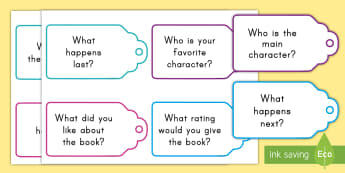 Story Question Cards - details, characters, plot, setting, review, summary, recount, retell