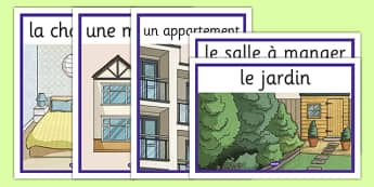 My Home Display Posters French - french, home, houses and homes, house, my home, display posters