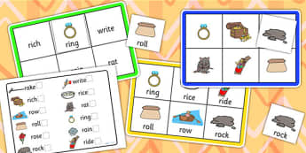 Initial r Sound Bingo and Lotto Game - sound, bingo, lotto, game