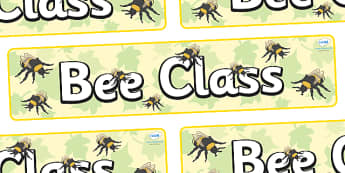 Bee Themed Classroom Display Banner - Themed banner, banner, display banner, Classroom labels, Area labels, Poster, Display, Areas