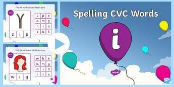 CVC Words I Spelling PowerPoint - CVC Words I Spelling PowerPoint - CVC words, spellings, powerpoint, cvcwords, speeling, cvc wods, sp
