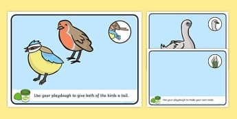 Ugly Duckling Playdough Mats - playdough mats, ugly duckling