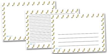 Scuba Diver Landscape Page Borders- Landscape Page Borders - Page border, border, writing template, writing aid, writing frame, a4 border, template, templates, landscape