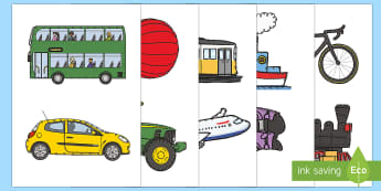 Transport Threading Cut Outs - threading cards, fine motor skills, activities, junior infants, senior infants, early years, foundat