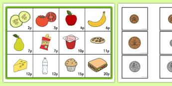 Coin Addition Bingo Game to 20p - coin, addition, bingo, activity, 20p, money, maths, game, adding