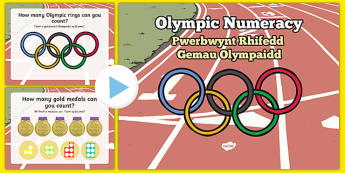 Olympic Numeracy Starter Nursery Reception Bilingual Resource - welsh, cymraeg, Olympics, Numeracy, Counting, Welsh