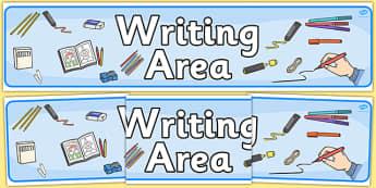 Writing Area Display Banner - writing area, display banner, display