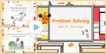 Week 20 - Problem Solving - One a day PowerPoint - Word Problems, Addition, Subtraction, Rude, Solving,Irish