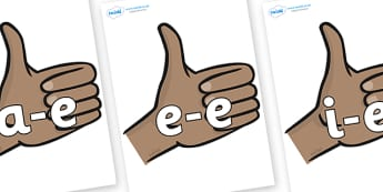 Modifying E Letters on Thumbs Up - Modifying E, letters, modify, Phase 5, Phase five, alternative spellings for phonemes, DfES letters and Sounds