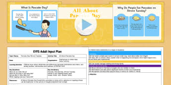 All About Pancake Day EYFS Adult Input Plan and Resource Pack - EYFS planning, Early years, Adult led, Pancake Day, Shrove Tuesday