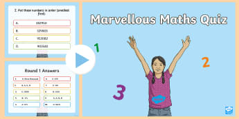 Junior Maths Quiz PowerPoint - Math, Junior, Grade 4, Grade 5, Grade 6, Place Value, Measurement, Temperature, Addition, Subtractio