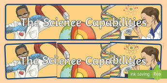 Science Capabilities Display Banner - New Zealand Science Capabilities, science, capabilities, primary school, observations, evidence, mak