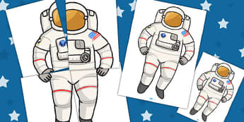 Display Astronaut Cut-Out - display, astronaut, large, space, science