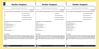 Reading and Writing Numbers Differentiated Activity Sheets - written words, numerals, standard form, numerical form, Number and Place Value, maths mastery, year