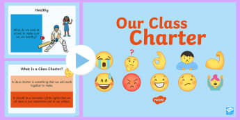 Our Class Charter Emoji Themed PowerPoint - Our, Class, Charter, Emoji, Themed, PowerPoint, Classroom, Management, Behaviour, KS2