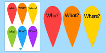 Question Word Fans - Question Word Fans, Question Fans, Word Fans, Fan, Words on Fans, Questions on Fans, art and craft, fan making, make fans