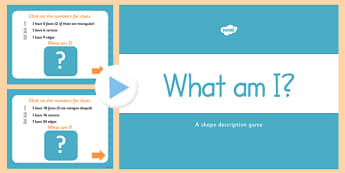 What Am I 3D Shape Properties PowerPoint - 3D, shapes, powerpoint