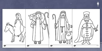 The Nativity Colouring Pages - nativity, colour pages, christmas