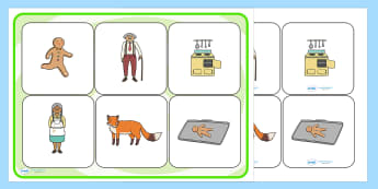 The Gingerbread Man Matching Cards and Board - the gingerbread man, gingerbread man matching game, gingerbread man picture matching activity, sen activity