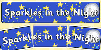 Sparkles In The Night Display Banner - banners, displays, visual