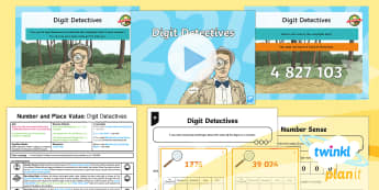 PlanIt Y5 Number and Place Value Lesson Pack Place Value (2) - digits, hundreds, tens, ones, understand, read, write, amounts