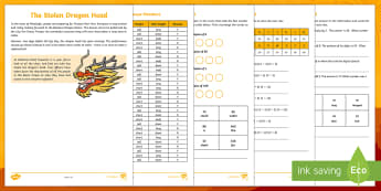 KS2 Chinese New Year Mystery Game - Chinese New Year, KS2, Celebration, festivals, maths skills, year 3 maths problem solving, year 4 ma