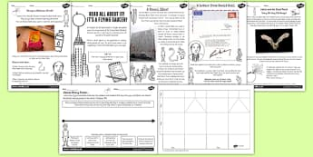 James and the Giant Peach Inspired Activity Sheet Pack to Support Teaching on James and the Giant Peach - stories, worksheet