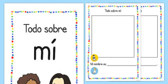 Todo sobre mí All About Me Booklet Spanish - spanish, information, workbook, ourselves, book