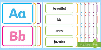 Kindergarten Word Wall - Word wall, writing, spelling, question words, dolch words, dolch sight words, colors, bulletin board