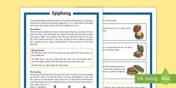 KS2 Epiphany Differentiated Fact File - KS1/2 Epiphany (Jan 6th 2017), Christian, Christianity, feast, January, Three Wise Men, Three Kings,