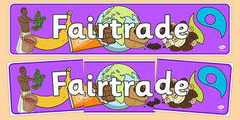 Fairtrade Display Banner - fairtrade, fair trade, banner, trade