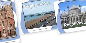 Brighton Display Photo - brighton, Brighton College, Brighton Pier, Royal Pavilion, Indian Gateway, South, city, sight seeing, Royal Theatre