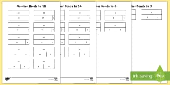 Bonds to 20 Bar Models Activity - Number bonds, reference, learn, Inverse, instant recall, represent