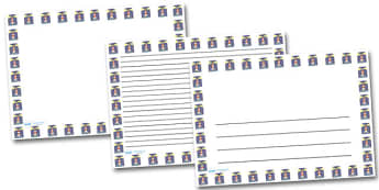 Shining Lighthouse Landscape Page Borders- Landscape Page Borders - Page border, border, writing template, writing aid, writing frame, a4 border, template, templates, landscape